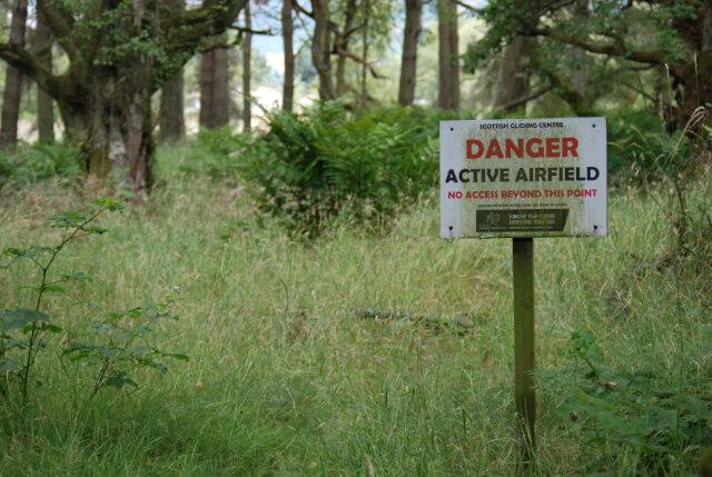 危険を知らせる看板